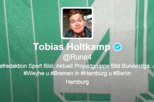 Tobias Holtkamps Twitter-Profil 2012