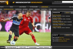 Website Sport 1 mit Bundesliga Aktuell